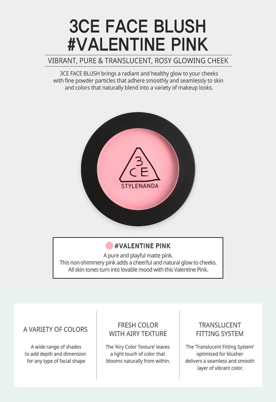 3CE FACE BLUSH #VALENTINE PINK