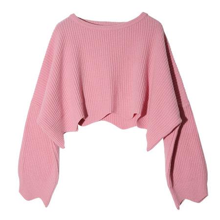 Cropped Chunky Knit Sweater | STYLENANDA