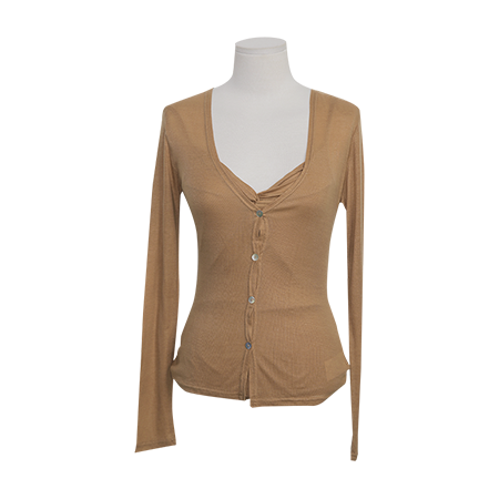 Ruched Front Cami And Cardigan Set by Stylenanda