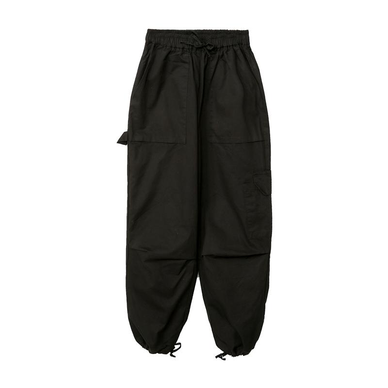 Drawstring Hem Cargo Pants by Stylenanda