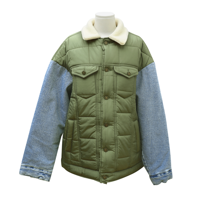 Mix Media Padded Jacket The Delivery Starts From 14th Nov. Along With Your Purchase Order!! by Stylenanda