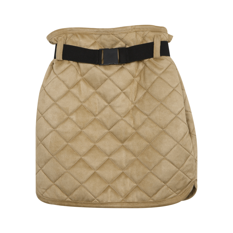 Quilted Mini Skirt With Belt by Stylenanda
