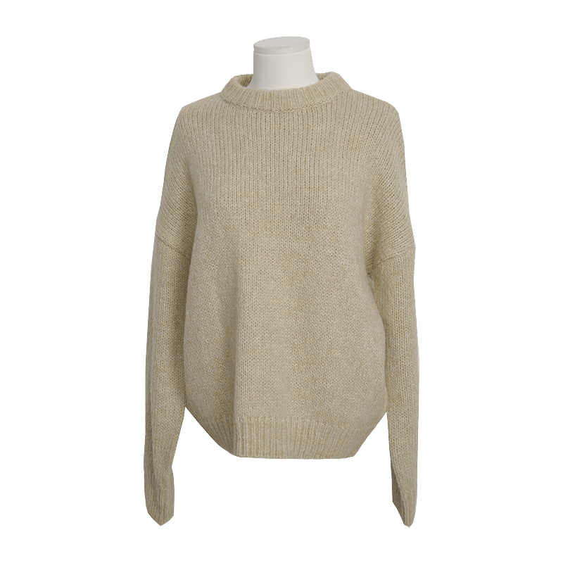 Rib Knit Single Tone Sweater Only The Color Sky Blue Will Be Delivered From 1st Nov. Along With Your Purchase Order!! by Stylenanda