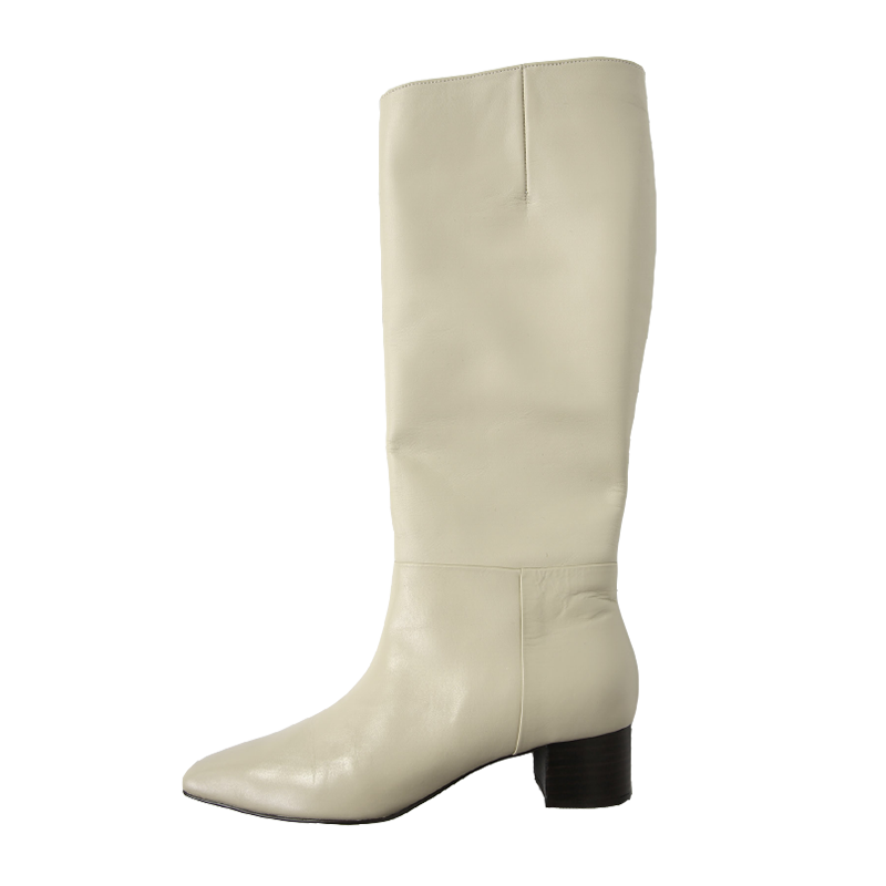 Stacked Mid Heel Boots The Delivery Starts From 9th Jan. Along With Your Purchase Order!! by Stylenanda