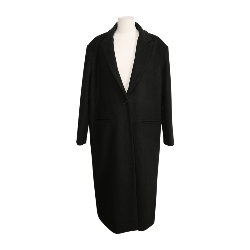 Peaked Lapel Single Button Coat by Stylenanda