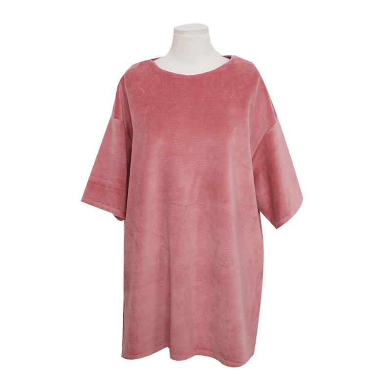 Oversized Corduory T Shirt by Stylenanda