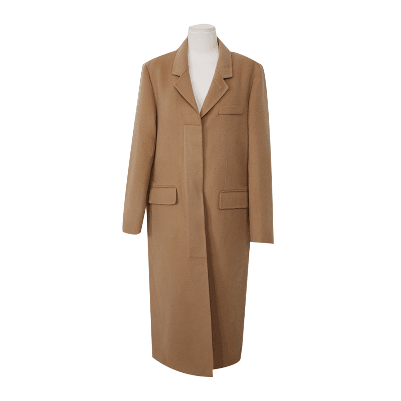 Single Tone Concealed Closure Coat by Stylenanda