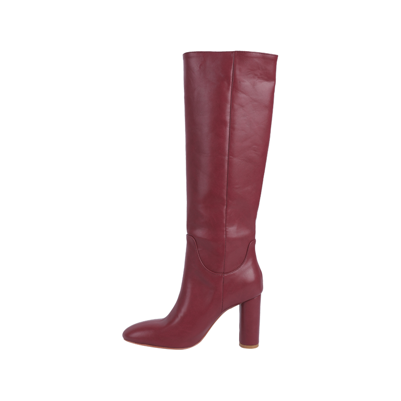 Chunky High Heeled Tall Boots by Stylenanda