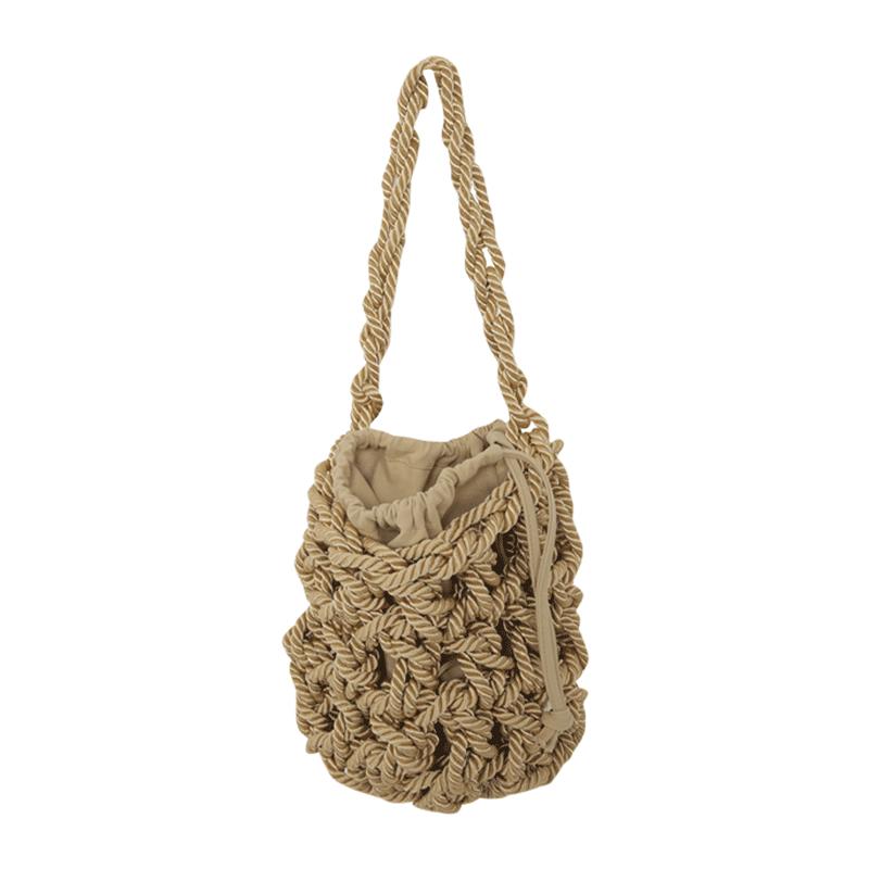 Rope Construction Drawstring Bag by Stylenanda
