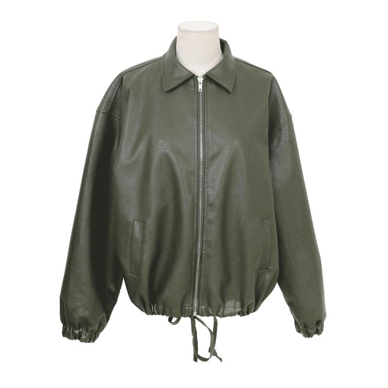 elastic-cuff-zip-up-jacket by stylenanda