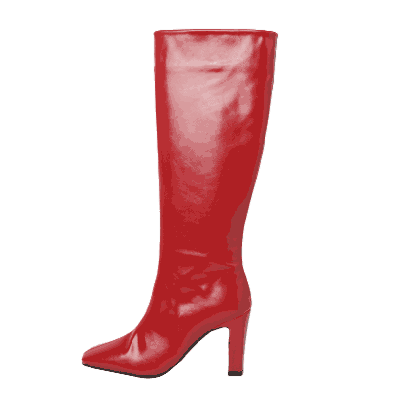 Square Toe Knee High Boots by Stylenanda