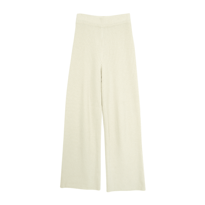 Ribbed Wide Leg Pull On Pants by Stylenanda
