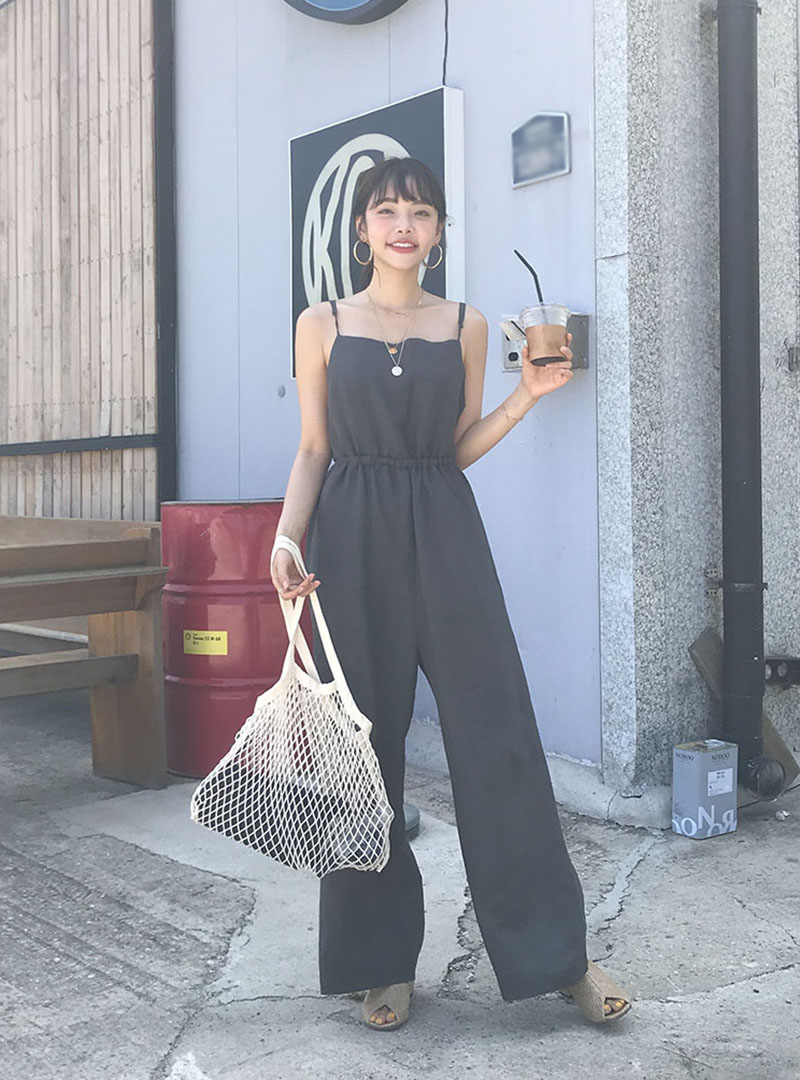 f87ef7cbd9 Product   Back Ribbon Accent Sleeveless Jumpsuit